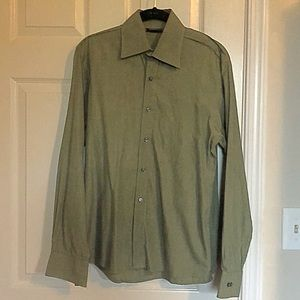 Kennth Cole Green Dress Shirt